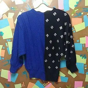 Vintage 80s Embellished Sweater M